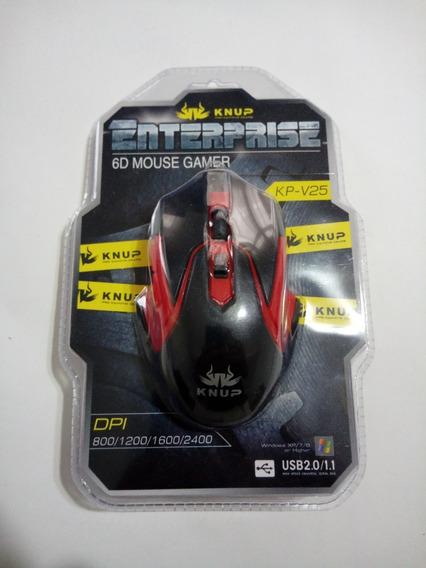 Mouse Gamer Usb 2400 Dpi Óptico 6 Botões Knup Kp-v25 Barato