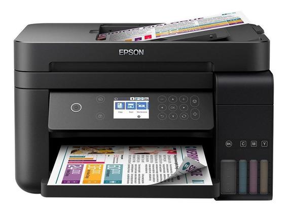 Impressora a cor multifuncional Epson EcoTank L6171 com Wi-Fi 220V preta