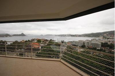 Charitas - Condomínio Aruã. Magnífica Mansão Com Vista Panorâmica Da Baía De Guanabara, Junto Ao Catamarã - Ca0596
