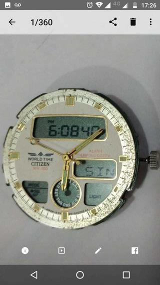 Máquina De Relógio Citizen C420 Funcionando Perfeitamente