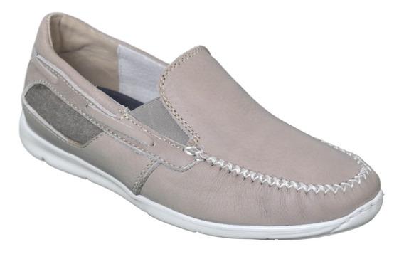 Zapato Hombre Cuero Náutico Mocasín Zurich Art: 3013 Cómodo