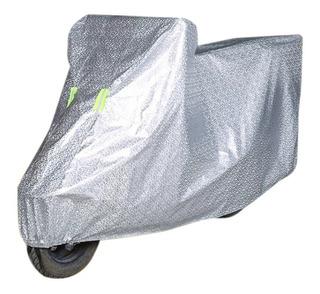 Carpa Funda Cubre Moto Impermeable Uv Peva(vinilo) + Algodon