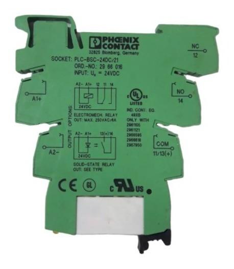 Kit 4 Rele 24v 6a Phoenix Contact Plc-bsc-24dc/21 2961105