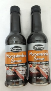Kit 2 Worcestershire Sauce Molho Cozinhar Ingles 296ml