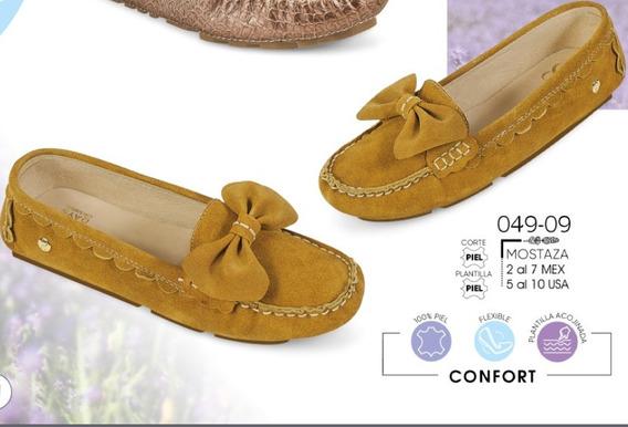 Zapato Dama Mostaza Mod. 049-09 Oi 2019
