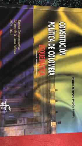 Imagen 1 de 1 de Constitución Política De Colombia Esquematica