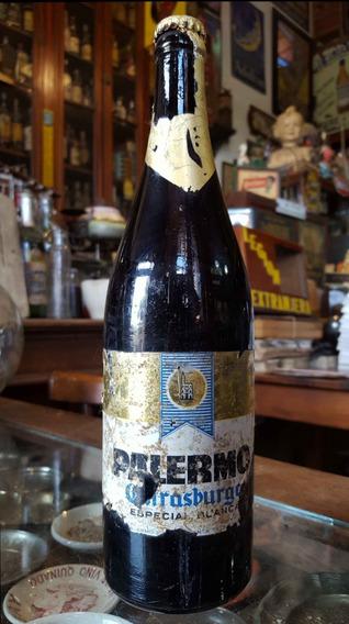 Antigua Botella Cerveza Palermo. Estrasburgo (llena). 28190
