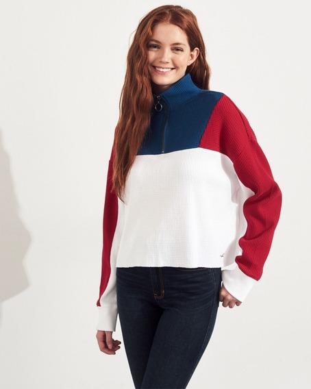 Camiseta Hollister Feminina Casacos Blusas Frio Abercrombie