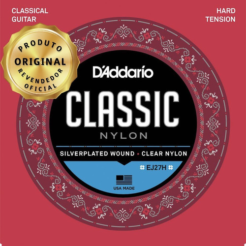 Encordamento Violao Nylon Daddario Classic Ej27h + Volume !!
