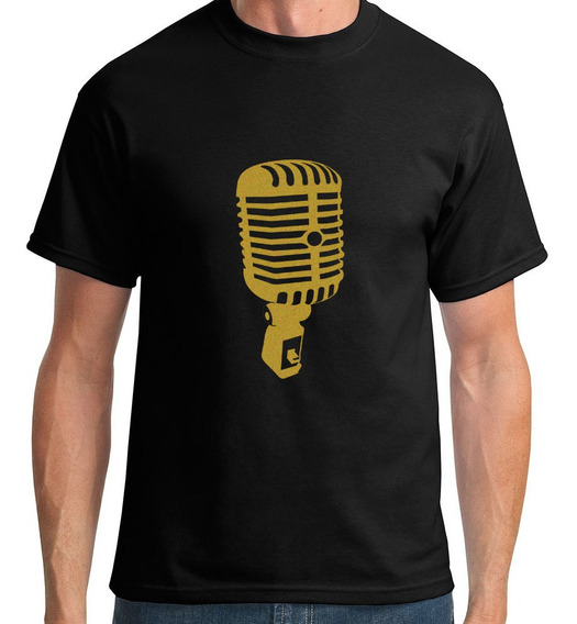 Camiseta Microfone Loucospormusica