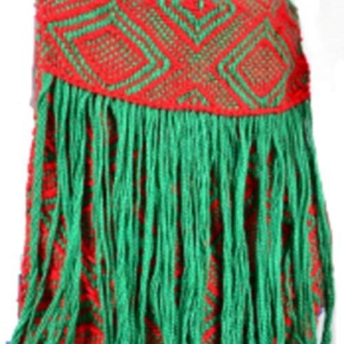 Bolsa Kaxinawa Vermelha & Verde