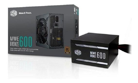 Fonte Atx Mwe 600w 80 Plus Bronze Mpx 6001 Cooler Master