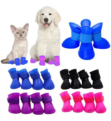 Zapatos Impermeables Lluvia Perro Mascota (4ud) Talla Xxl