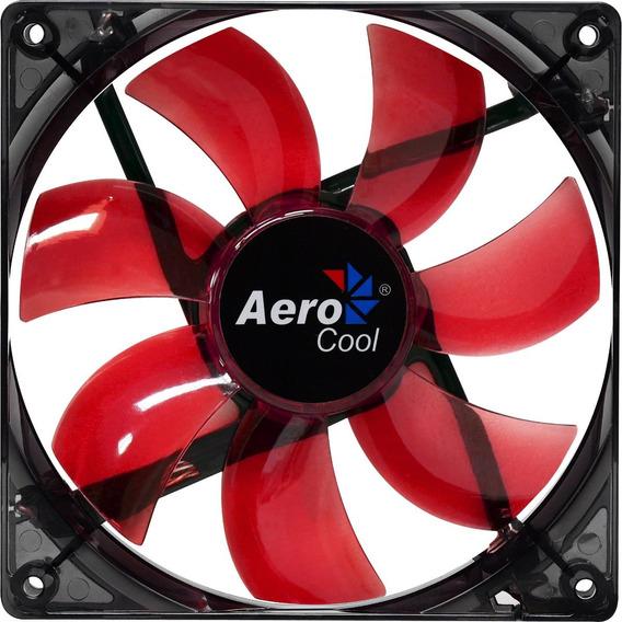 Cooler Fan 12cm Aerocool Red Led En51363 Vermelho