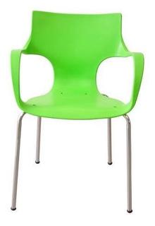 Silla De Comedor Staples ® Jim Plástica Verde