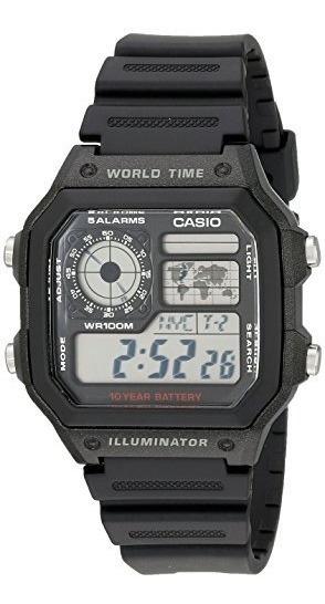 Reloj Multifuncional Time World Ae1200wh-1a Casio Hombres