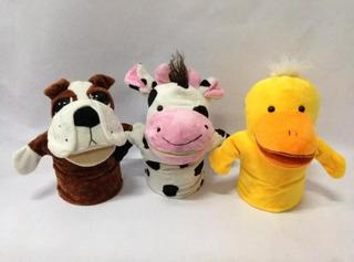 Titeres De Perro, Pato, Vaca, Burro, Varios Diseños