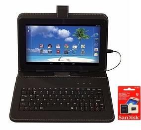 Tablet Função Celular Dual Chip + Capa Teclado + Cartão 32gb