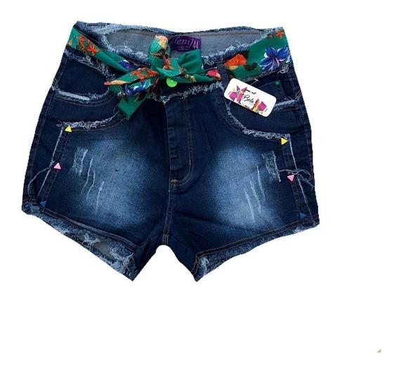Short Jeans Feminino Plus Size 44/58 Com Lycra