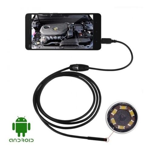 4x Camera Inspeção Sonda Endoscópica 6 Led Pc Android Usb 5m