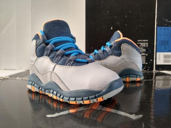 Jordan 10 Grey (12cm) Retro Zoom Chicago Carolina Mvp