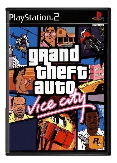 Grand Theft Auto Vice City Gta Ps2 Mídia Física