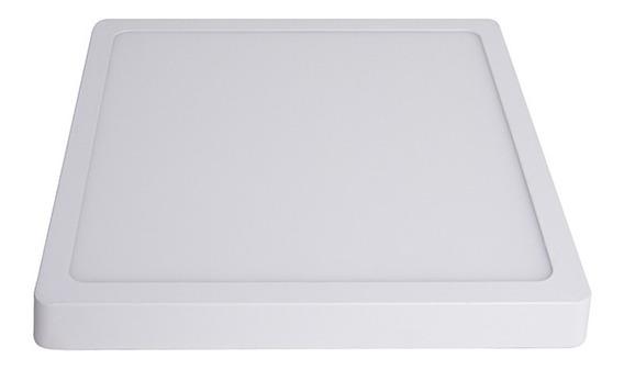Plafon Led De Sobrepor Quadrado 06w - 12,5cm X 12,5cm 6000k