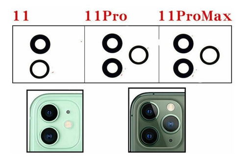 Lente Camara Trasera iPhone 11 11 Pro 11 Pro Max +  Tienda