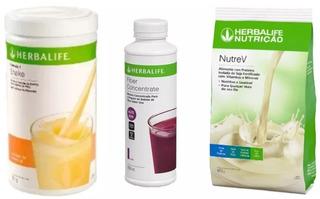 Kit Herbalife Shake + Fiber Concentrate (fibra L. )+ Nutrev
