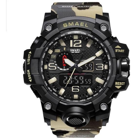 Relógio Masculino Militar Esportivo Camuflado Smael 1545 !!