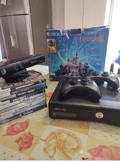 Xbox 360 Slim 4gb, Kinect, 2 Joysticks, 9 Juegos + Pendrive