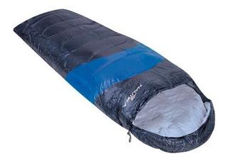 Saco De Dormir Nautika Viper 5ºc A 12ºc - Azul E Preto