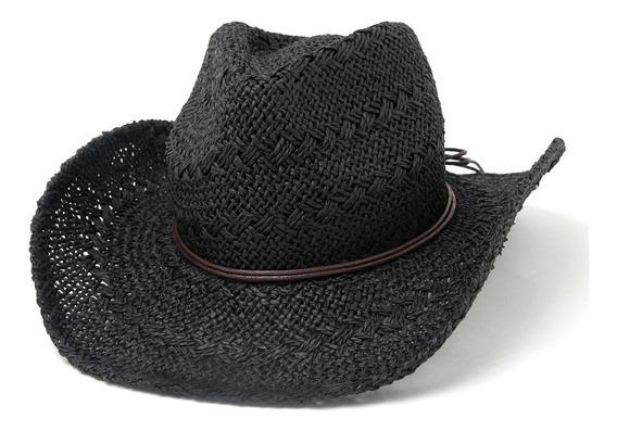 Sombrero Cowboy Mujer Calado Caracoles Playa Verano Pampita