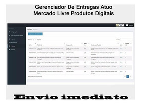 Gerenciador De Entregas Auto Mercado Livre Produtos Digitais