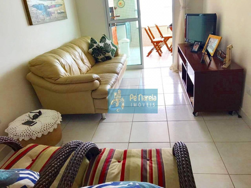 Imagem 1 de 10 de Apartamento Com 2 Dormitórios, 1 Suíte, Sacada Gourmet, Piscina, 2 Vagas, À Venda, 103 M² Por R$ 540.000 - Caiçara - Praia Grande/sp - T2c39a - Ap0112