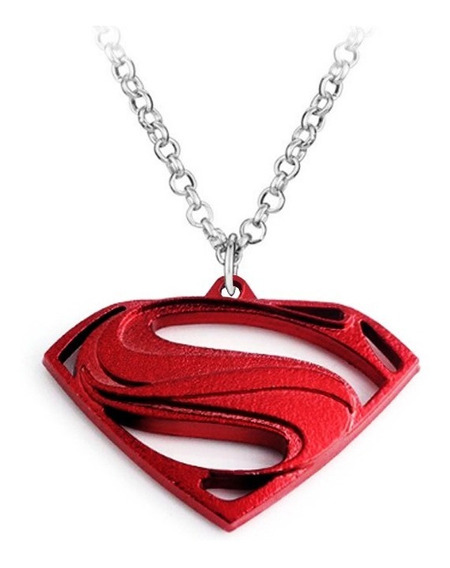 Colar Superman Logo Homem De Aço - Super-herói
