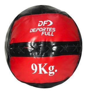Medicine Ball De Lona 9 Kg Full Box Tipo Dinamax Crossfit
