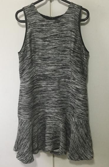 Vestido Armani Exchange Boucle Cinza E Preto 42 Usado