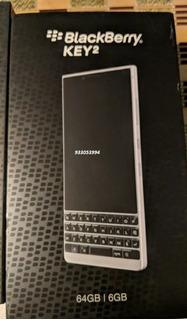 Blackberry Key2 64gb Black Silver + Mica + Case + Garantia