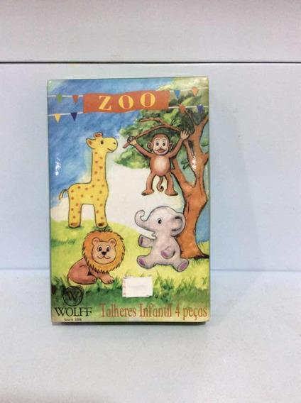Wolff Zoo Kit Talheres Infantil 4 Pcs