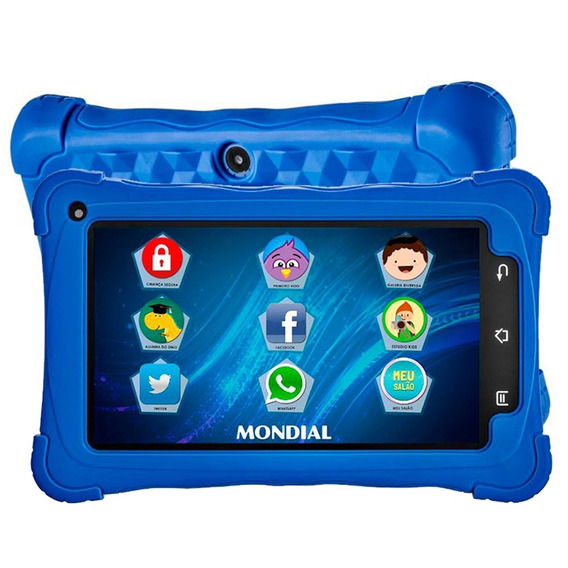 Tablet Kids Mondial 7wifi 7.1 2mp 8gb Tb-18 Azul - Bivolt
