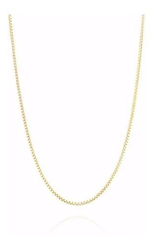 Corrente Colar Cordão Veneziana 80cm Ouro 18k750 Certificado