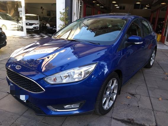Ford Focus Se Plus 2.0 5p. Azul 2017 Cuero Techo