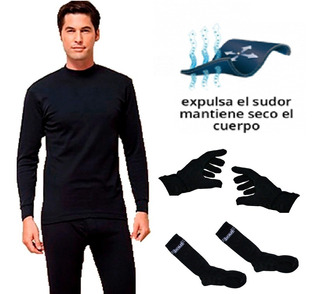 Kit Conjunto Térmico Remera + Pantalon + Medias + Guantes Expulsa Transpiración Ideal Running Deportes