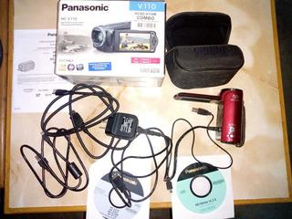 Cámara De Video Panasonic Hc-v110 - 72 X Zoom/color Rojo 8.9