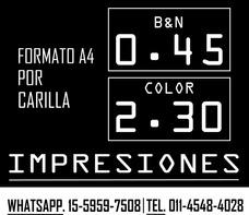 Fotocopias E Impresiones Laser Color Y Blanco Y Negro