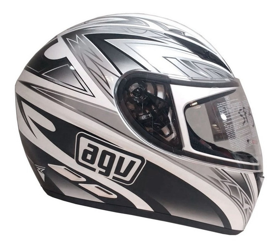 Casco Agv K3 Basic One White Black White Red Solo Sti Motos