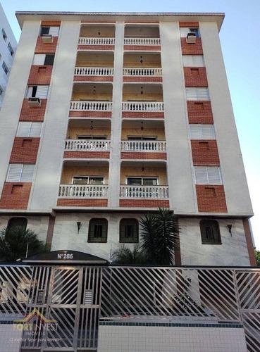 Imagem 1 de 9 de Apartamento Com 1 Dormitório À Venda, 45 M² Por R$ 205.000,00 - Vila Guilhermina - Praia Grande/sp - Ap2708