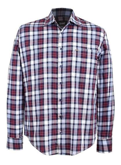 Camisa Casual Lee Hombre Manga Larga H65