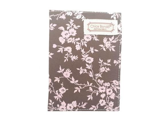 Porta Documento De Veículos Floral Rosa Marrom 6201